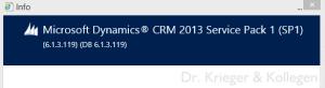 CRM Webclient Versionsdialog