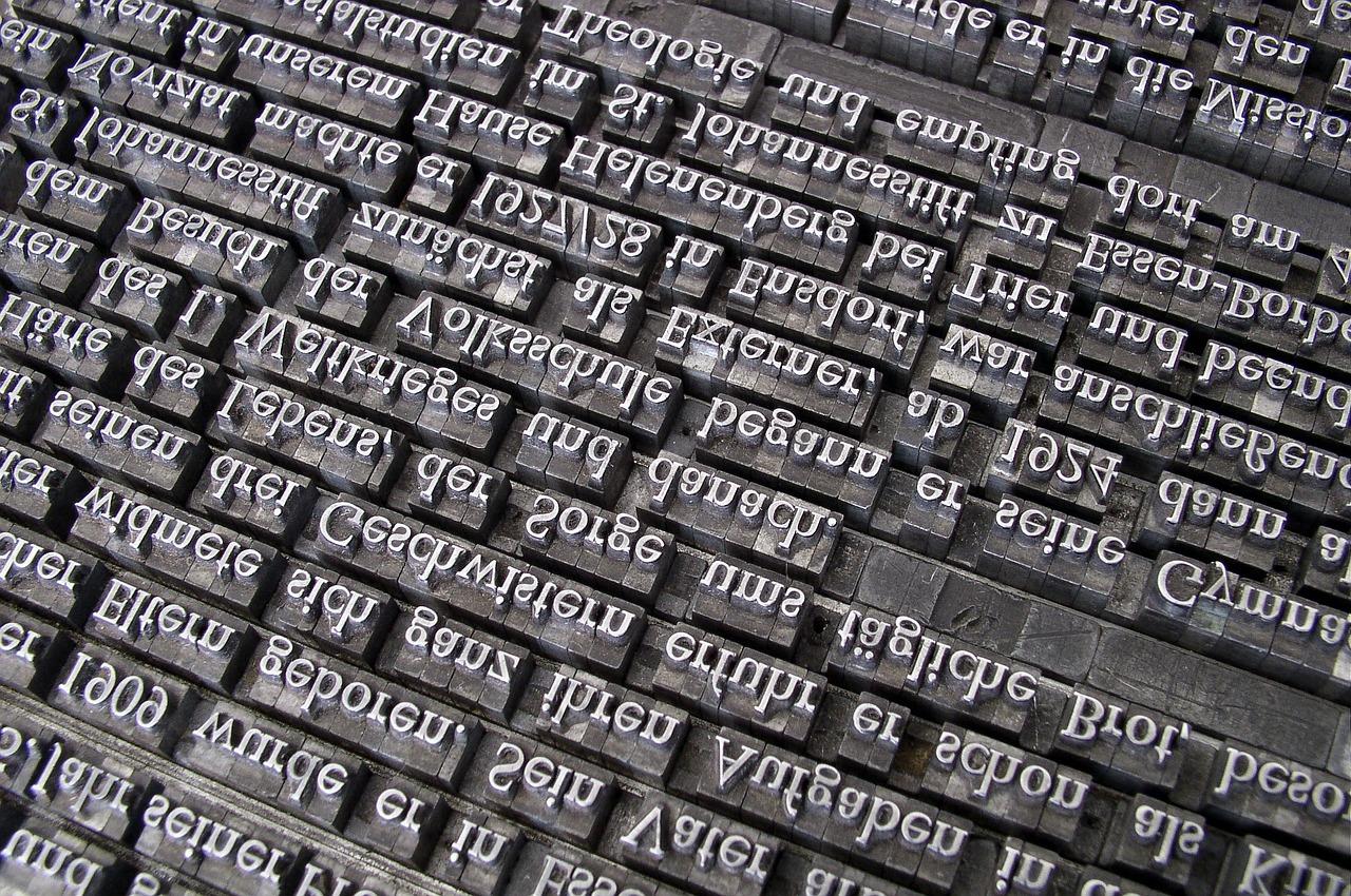 Schlaue Idee mit hohem Anspruch: Buchdruck mit bewegleichen Lettern